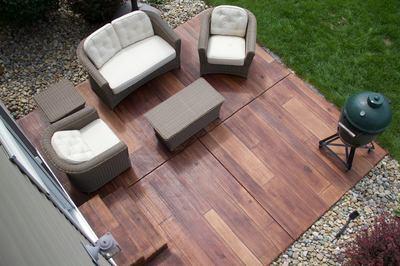 Concrete Faux Wood Patio - Indiana