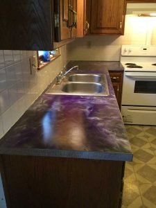 Metallic Marble Countertop | Kansas City | Speakman Coatings